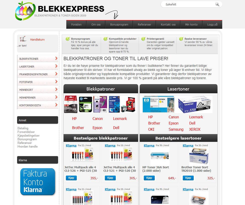Blekkexpress Nettbutikk