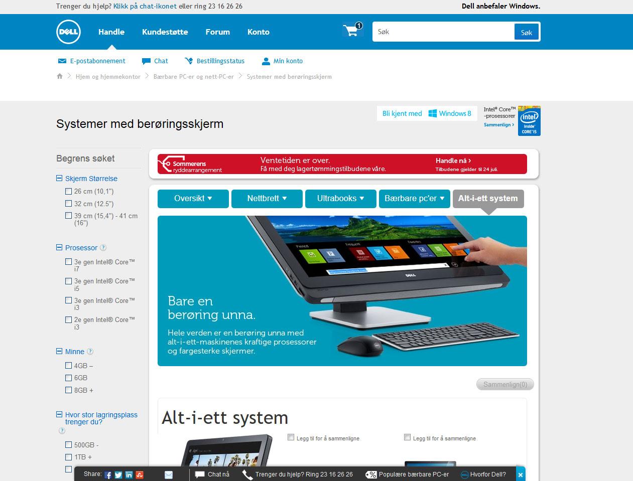 Dell nettbutikk
