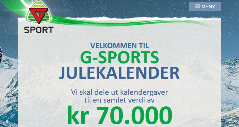 g-sport julekalender