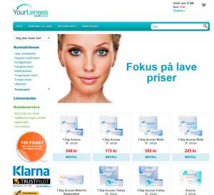 YourLenses nettbutikk